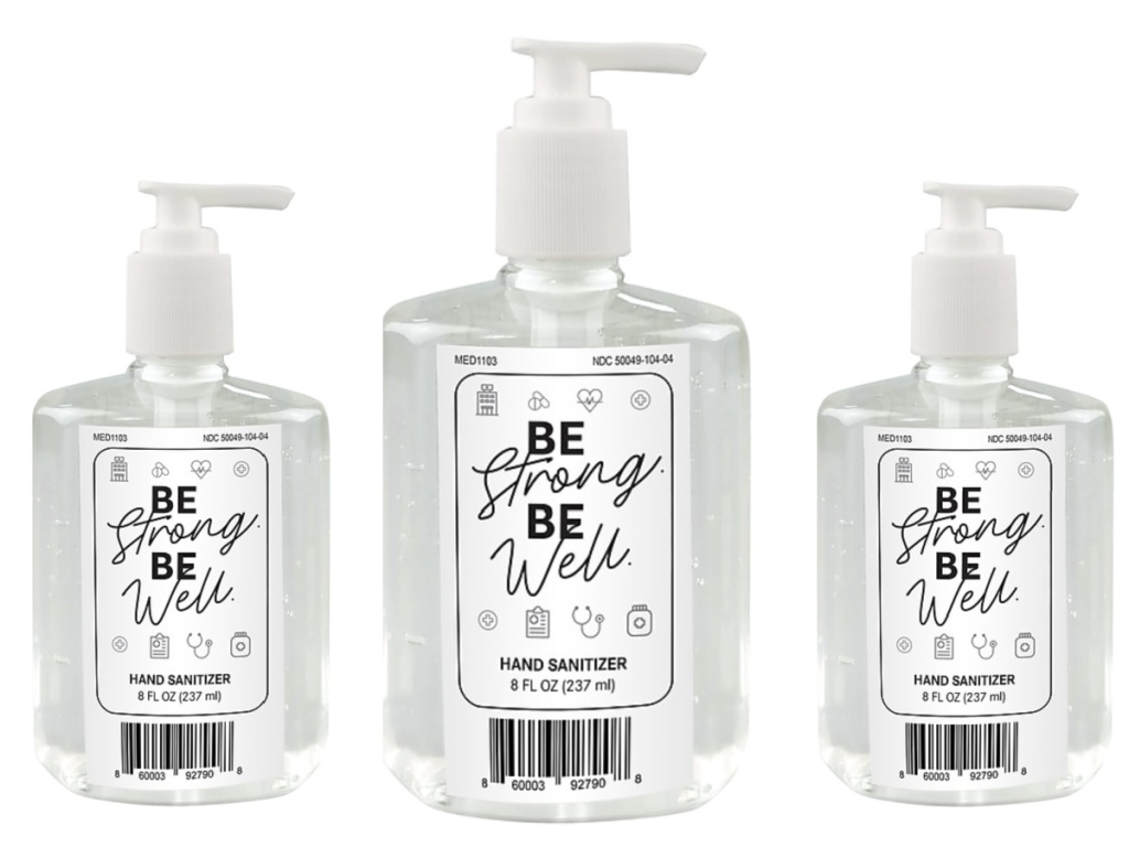 be strong be well hand sanitizer