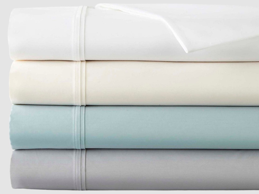 colorful sheets stacked