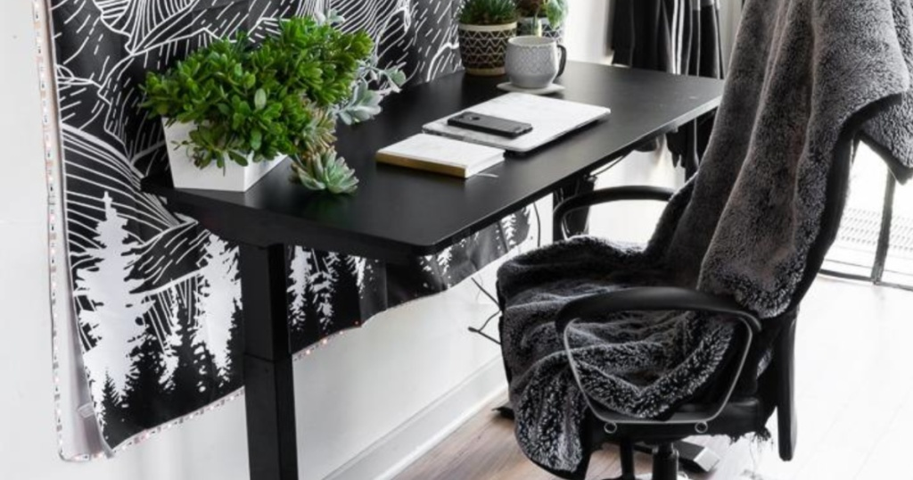 sit to stand desk w/ chair