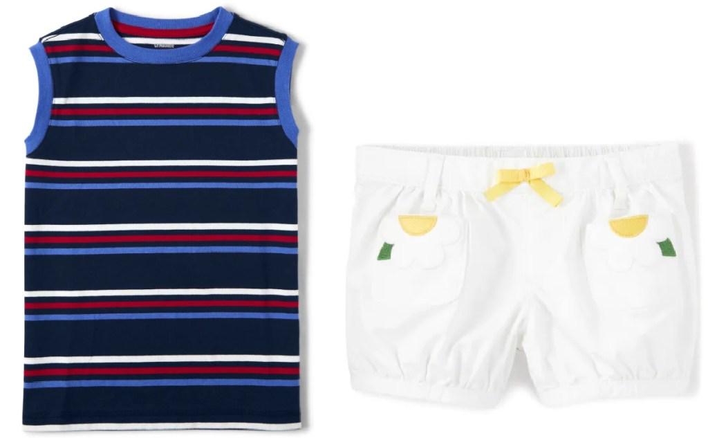 sleeveless tee and shorts from gymboree