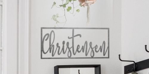 Trendy Custom Steel Name Sign Only $21.99 Shipped (Regularly $60)