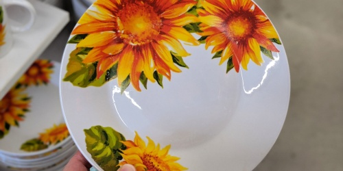 Sunflower Stoneware Dishes Just $1 at Dollar Tree