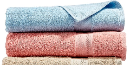 Bath Towels Just $2.99 Each on Macys.com (Regularly $14) | 6 Color Choices