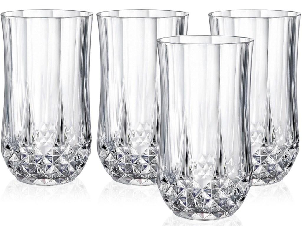 set of tall glasses