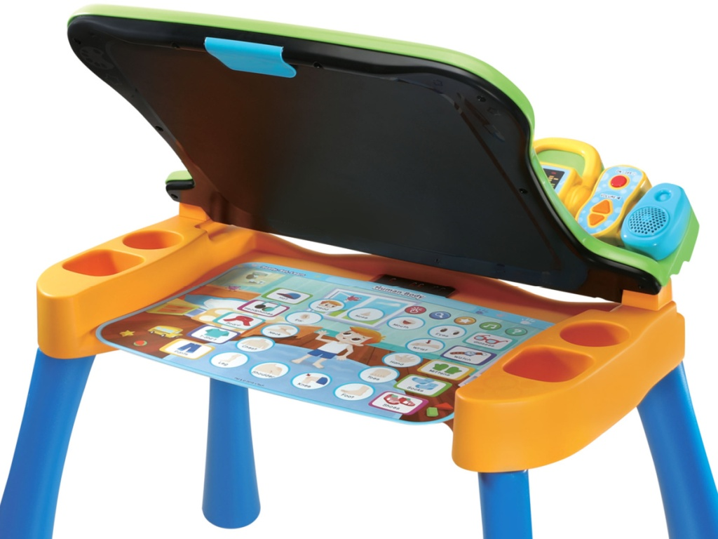 Vtech chalkboard and easel opened