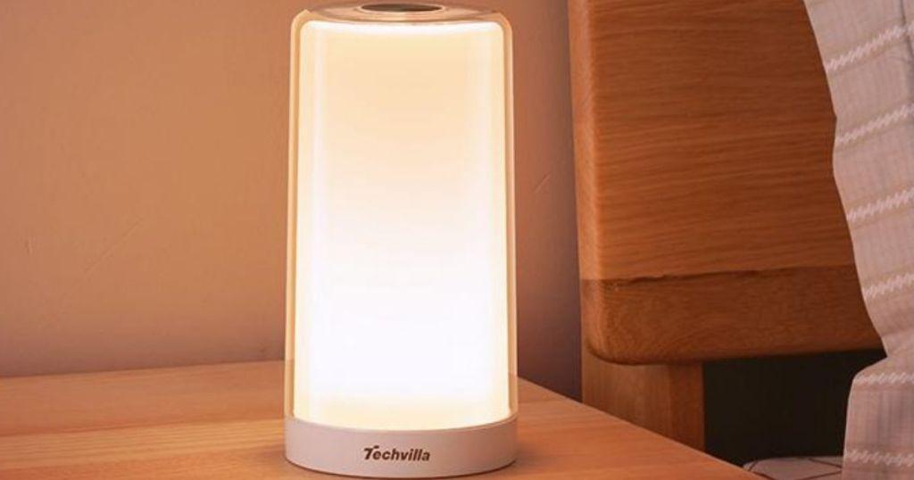 Techvilla table tamp on nightstand