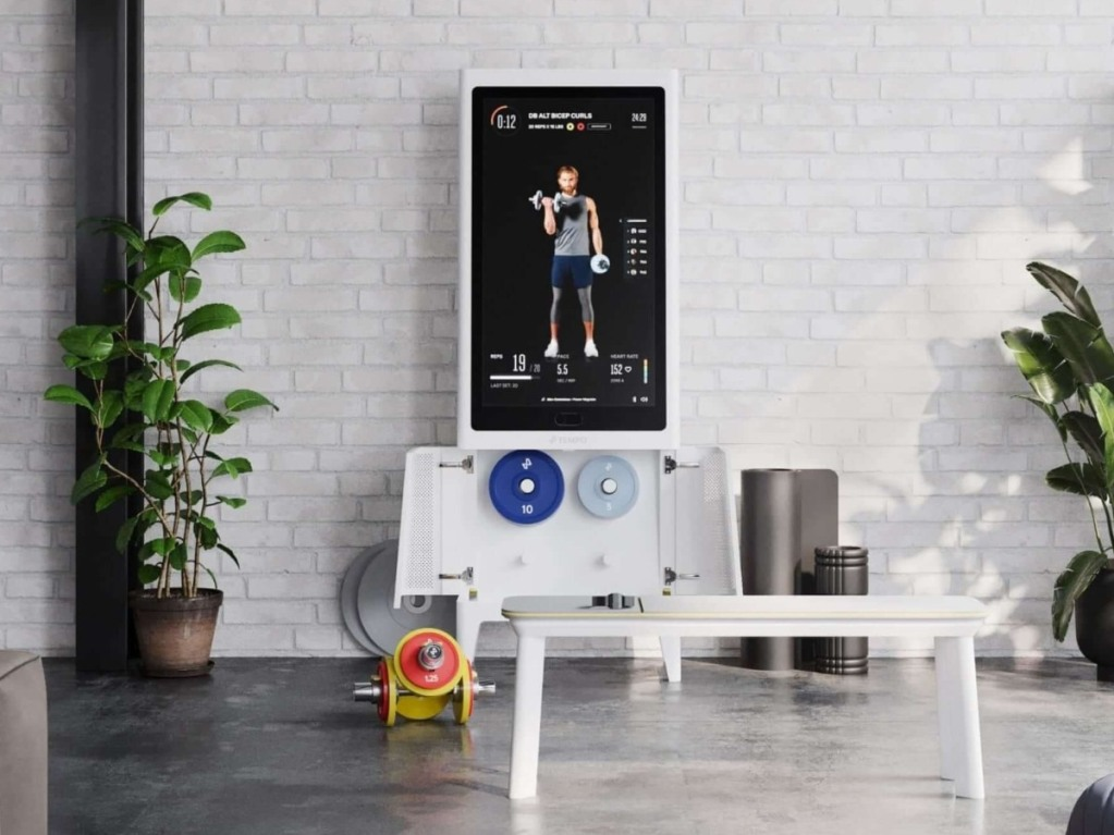 Tempo Plus workout mirror and accessories