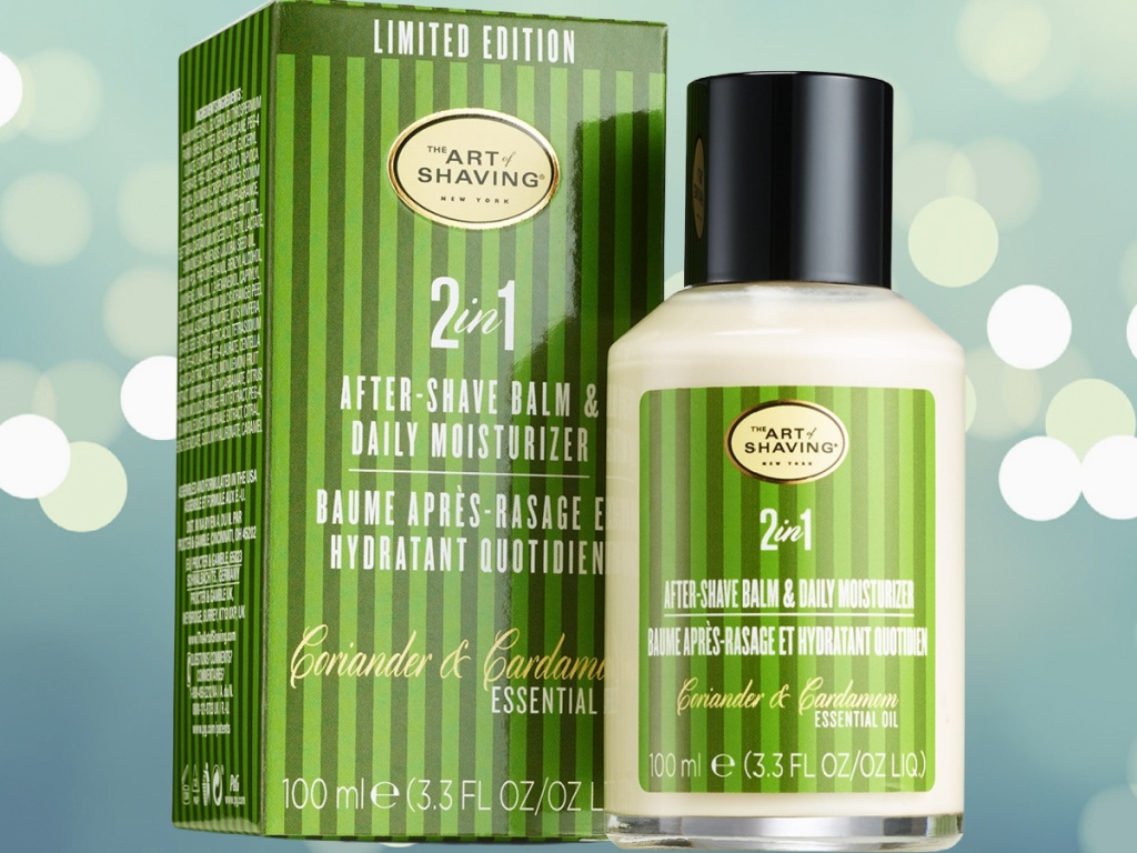 The Art of Shaving 2-in-1 shave balm box and bottle