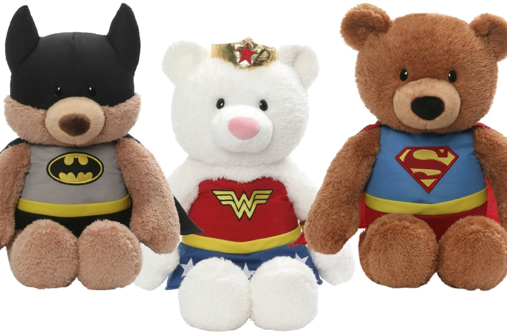 Three superhero bears