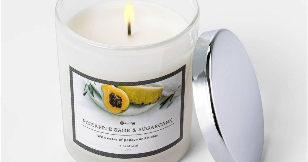 lit jar candle