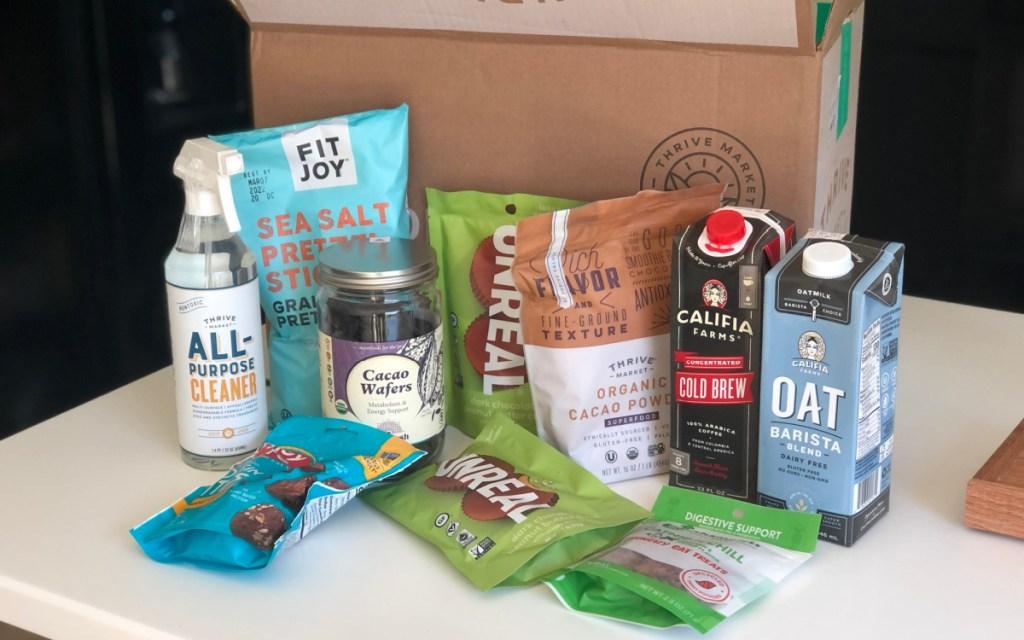 thrive snacks on table