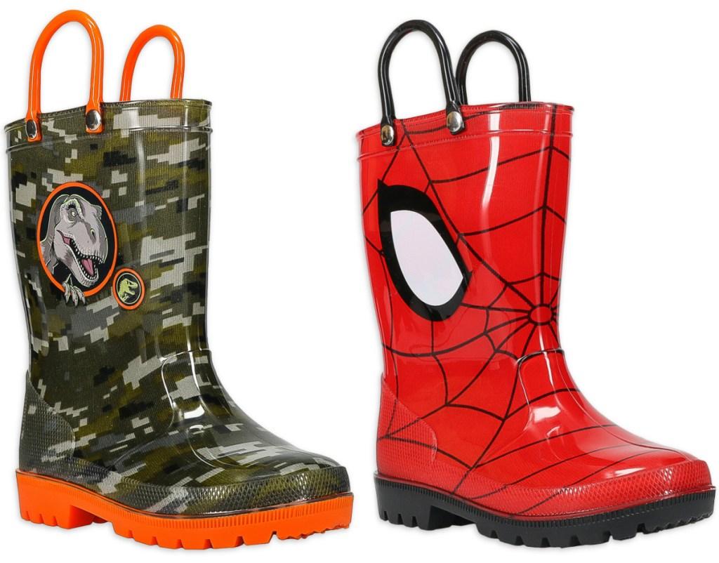 dino toddler rain boots