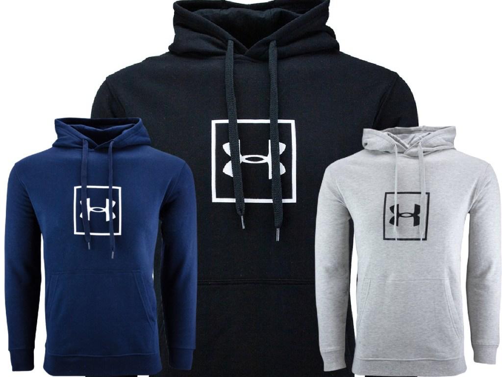three under armour hoodies