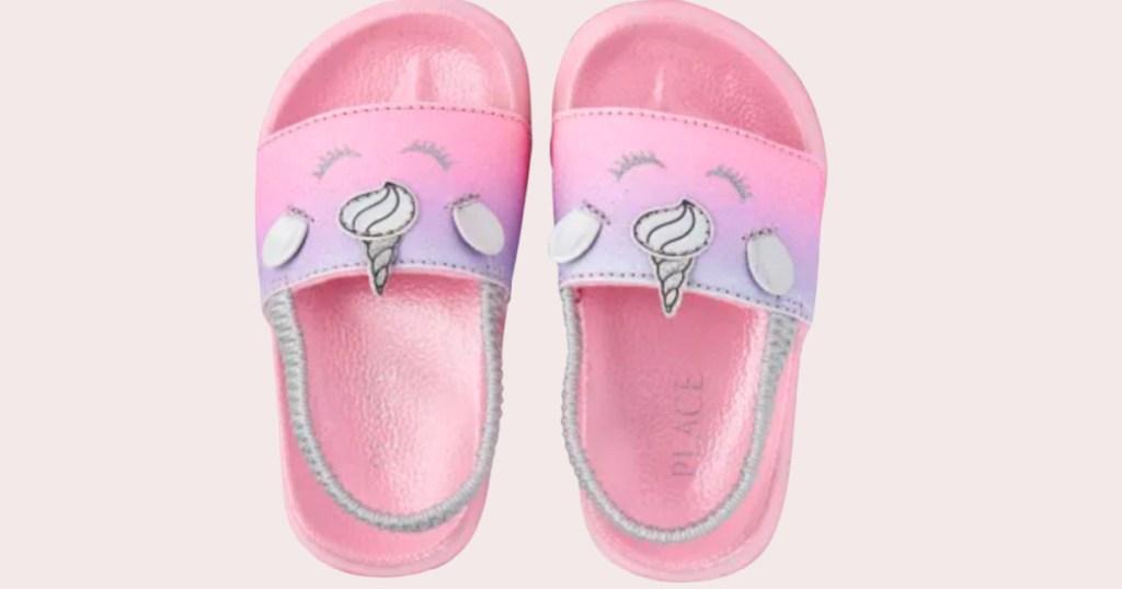 pink unicorn sandals