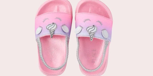 The Children's Place Unicorn Slides $8.48 Shipped & Flip Flops Only $2.98 Shipped