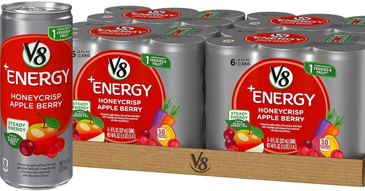 v8 energy honeycrisp 6 packs