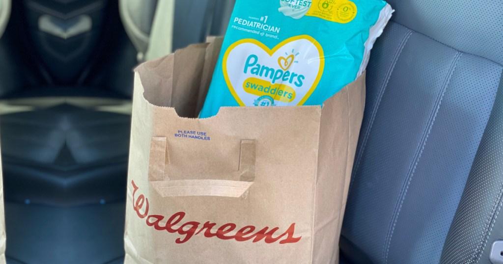 walgreens bag w: pampers