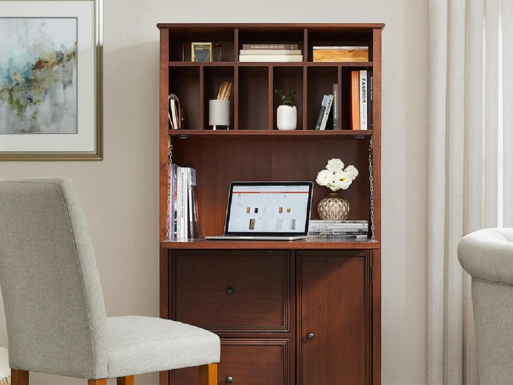 walnut secretart desk