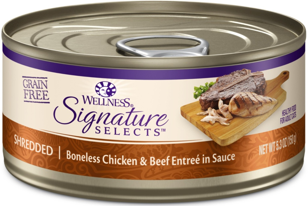 wellness core beef cat food can