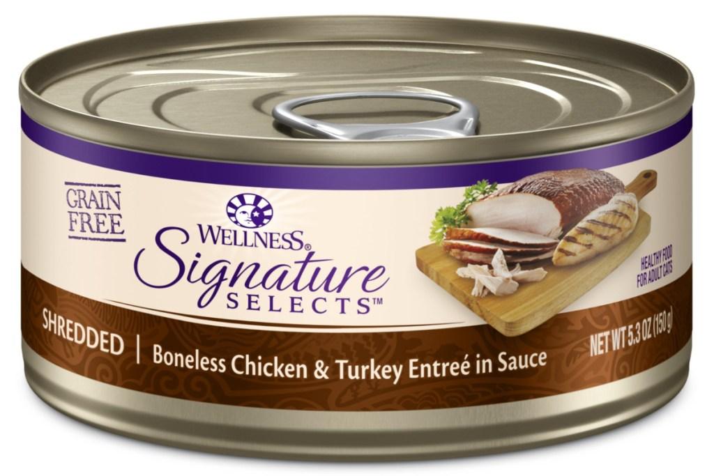 wellness core turkey cat food can