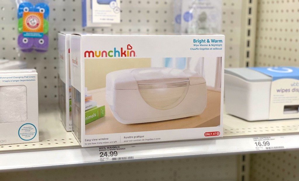 wipe warmer box on store shelf