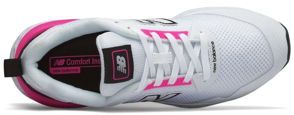 White tennis shoe sitting on it's side