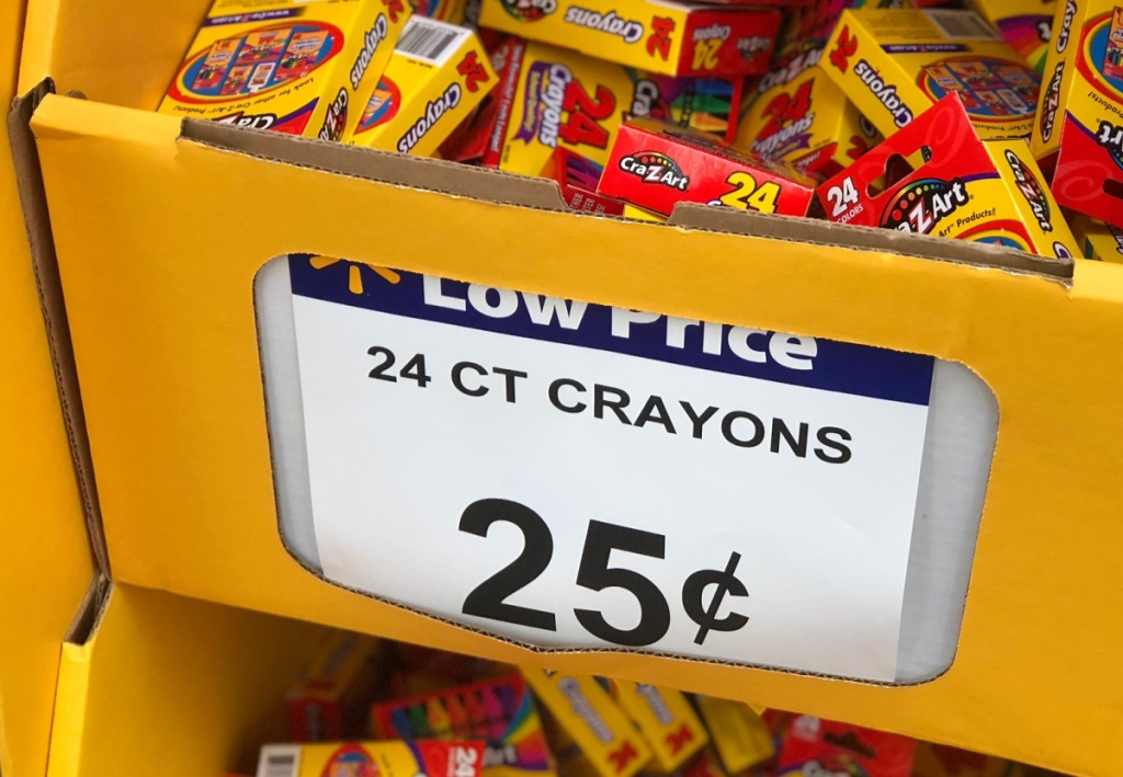 25 cent crayons