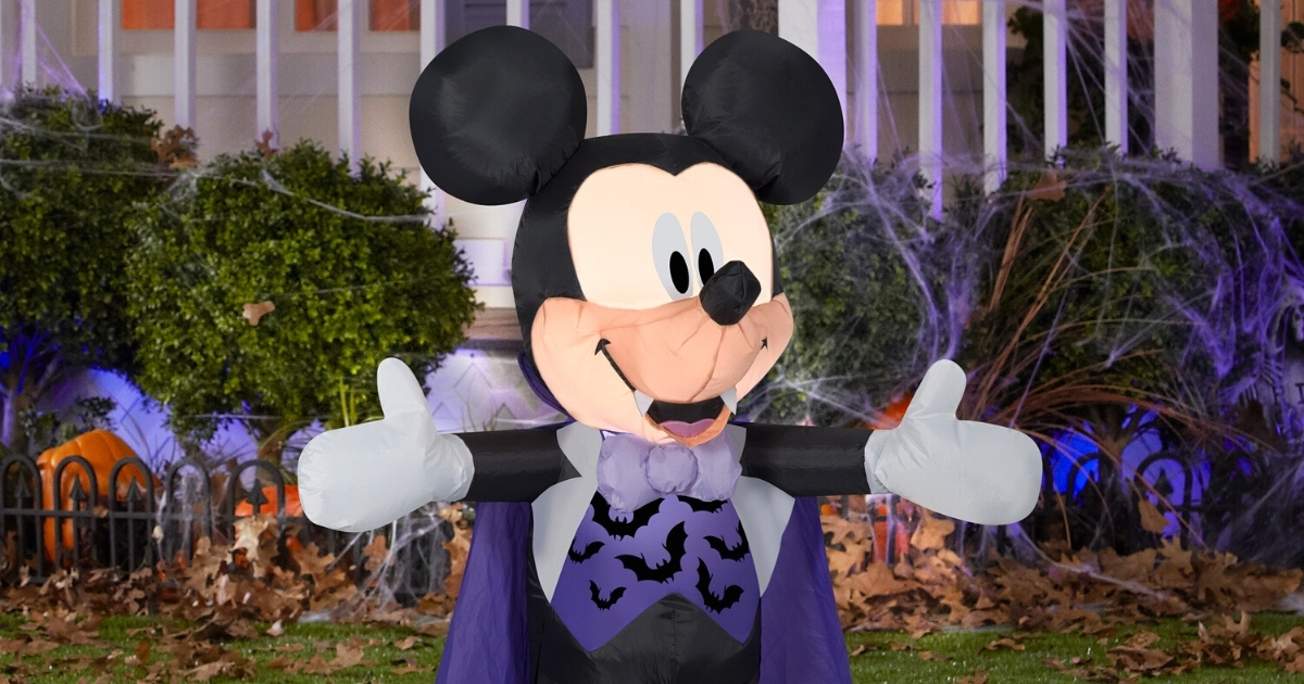 3.5ft. Airblown Inflatable Disney Mickey in Vampire Costume