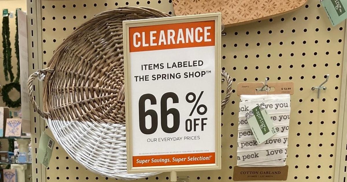 66% Off Clearance Sale at Hobby Lobby
