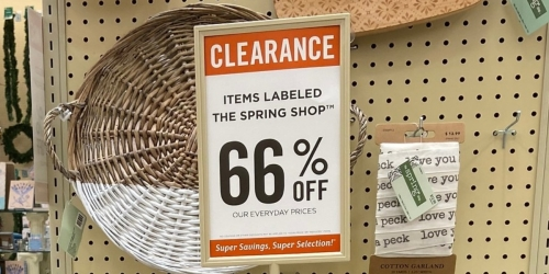 66% Off The Spring Shop Home Decor at Hobby Lobby