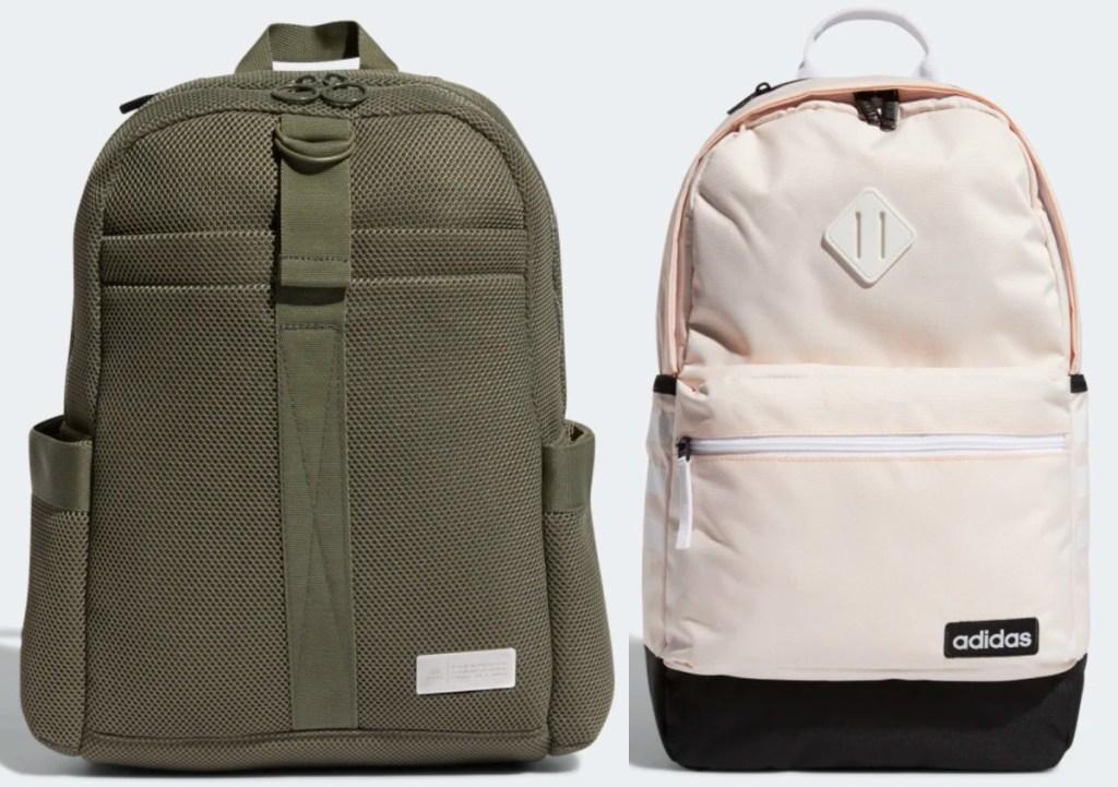 2 adidas backpacks