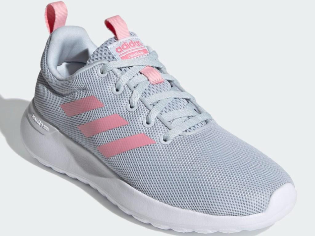 adidas pink and grey kid shoes