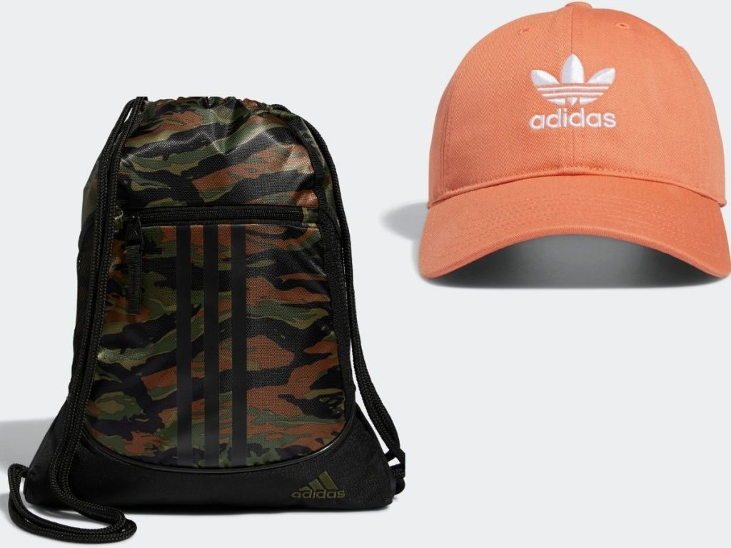 Adidas Sackpack and Women's hat