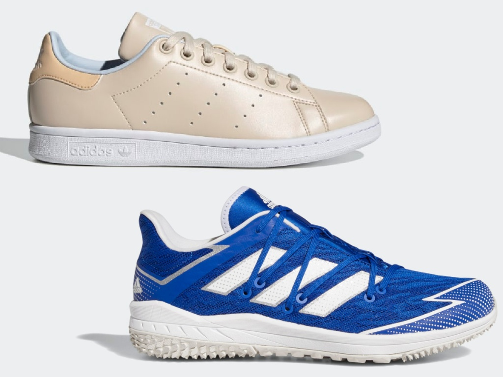 Adidas Stan Smith Shoes and Adidas Adizero Afterburner Turf Shoes