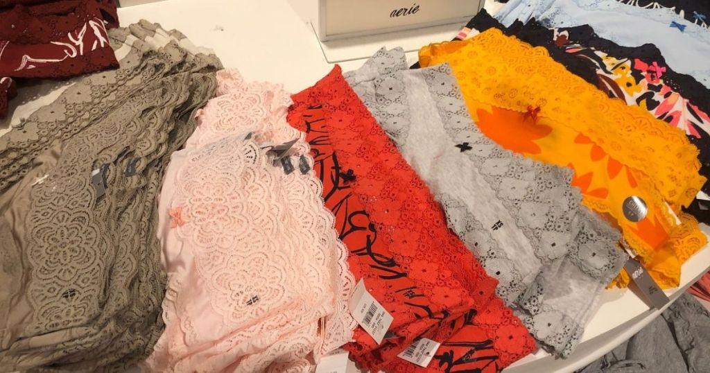 display of Aerie panties