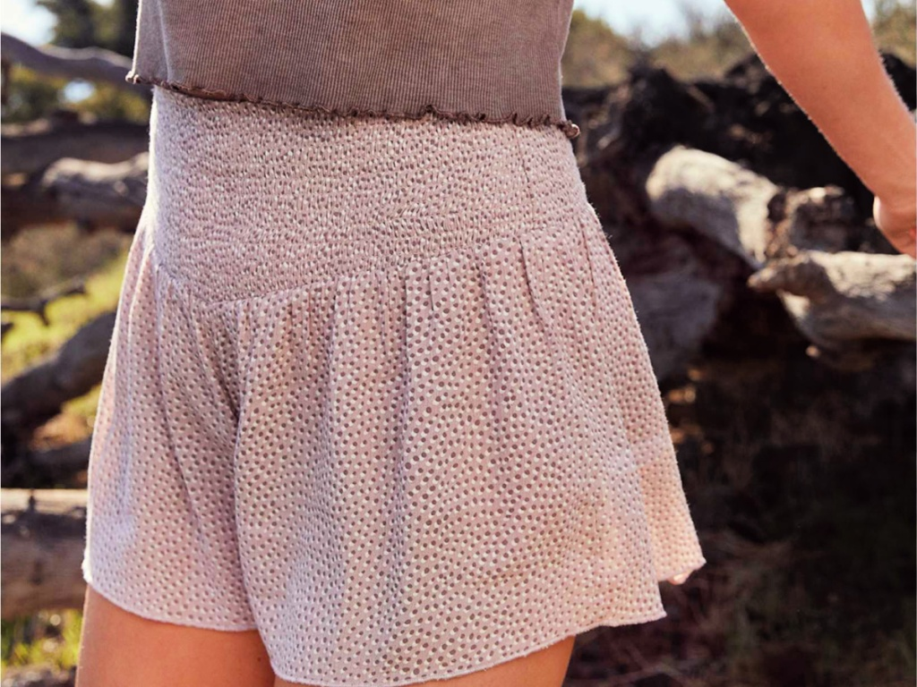 Aerie Real Good Smocked High Waisted Shorts