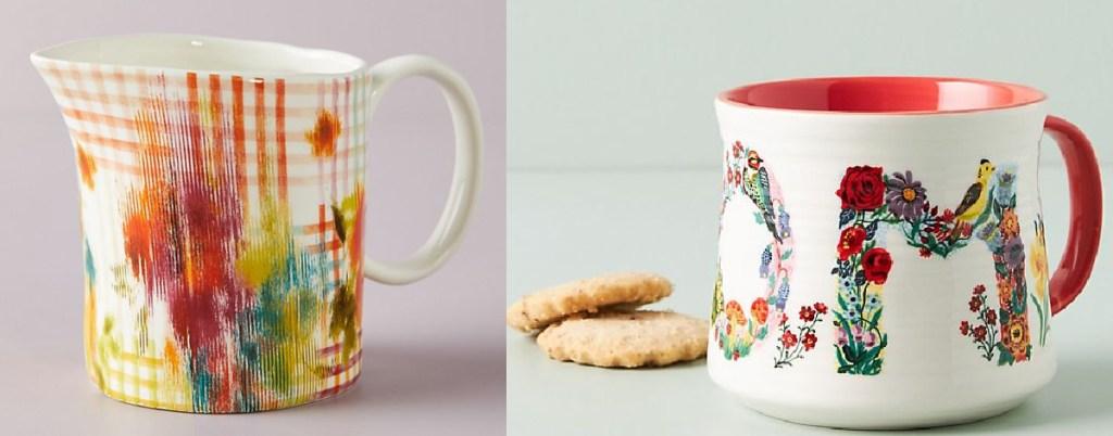 Anthropologie Leighton Creamer & Nathalie Lete Mom Botanical Mug