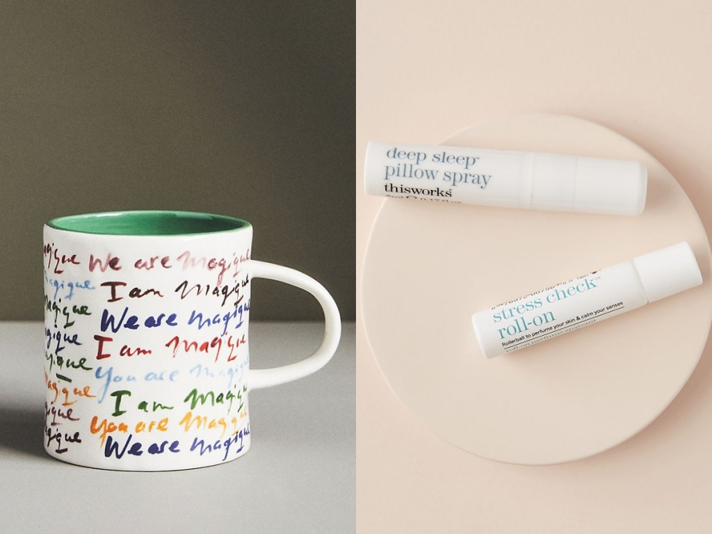 Anthropologie Mug and This Works Dream Team Gift Set