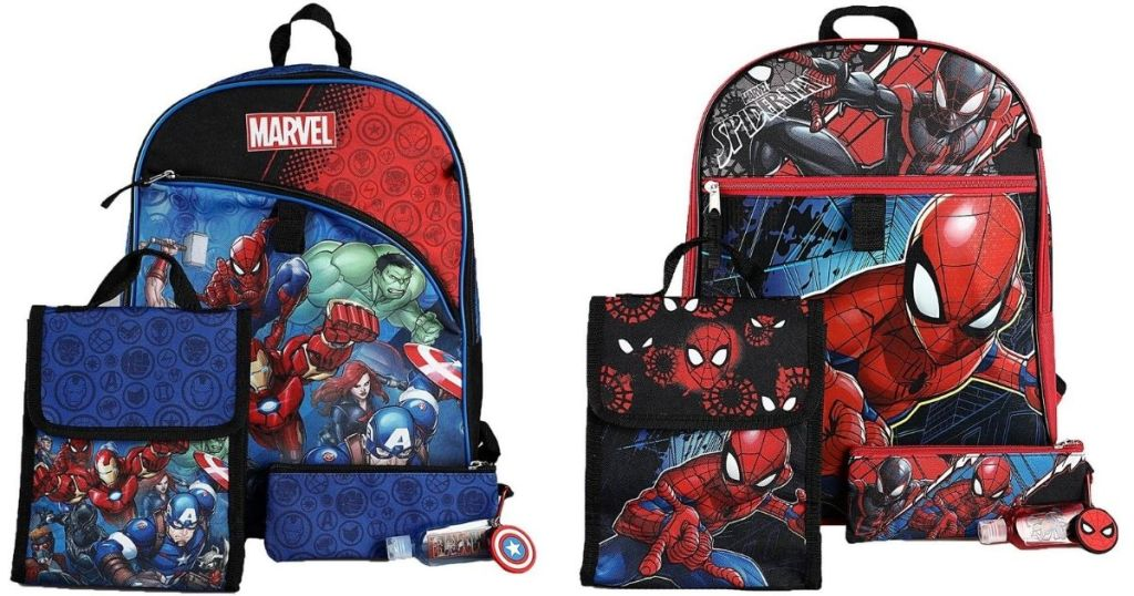 Avengers and Spiderman Kids Backpack Sets