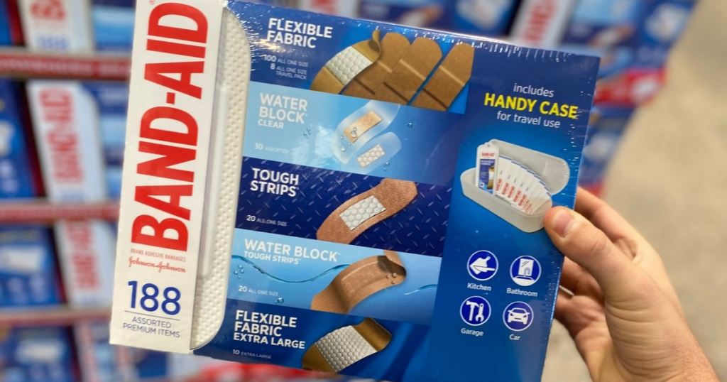 BAND-AID Brand Adhesive Bandages, Variety Pack, 188 piece with Case