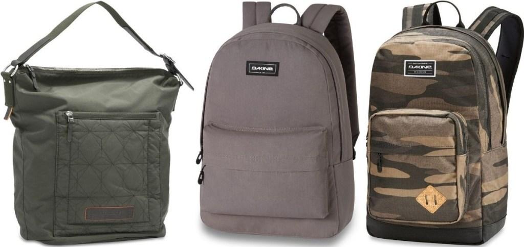 Bag and two Backpacks