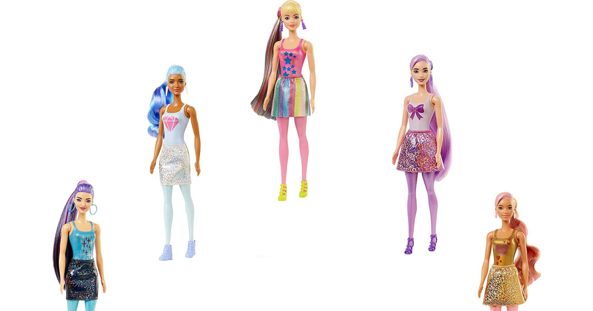stock images of barbie dolls in an arch pattern