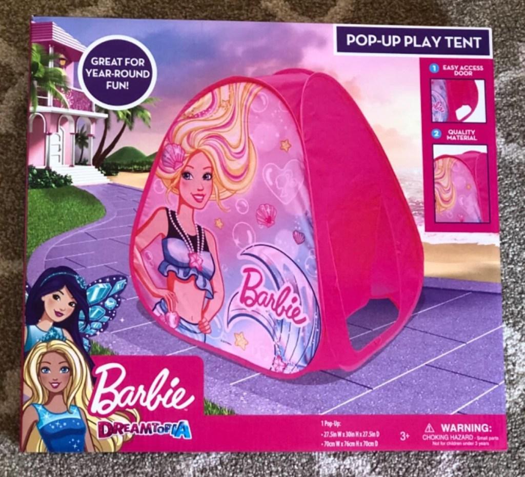 Barbie brand tent in packaging