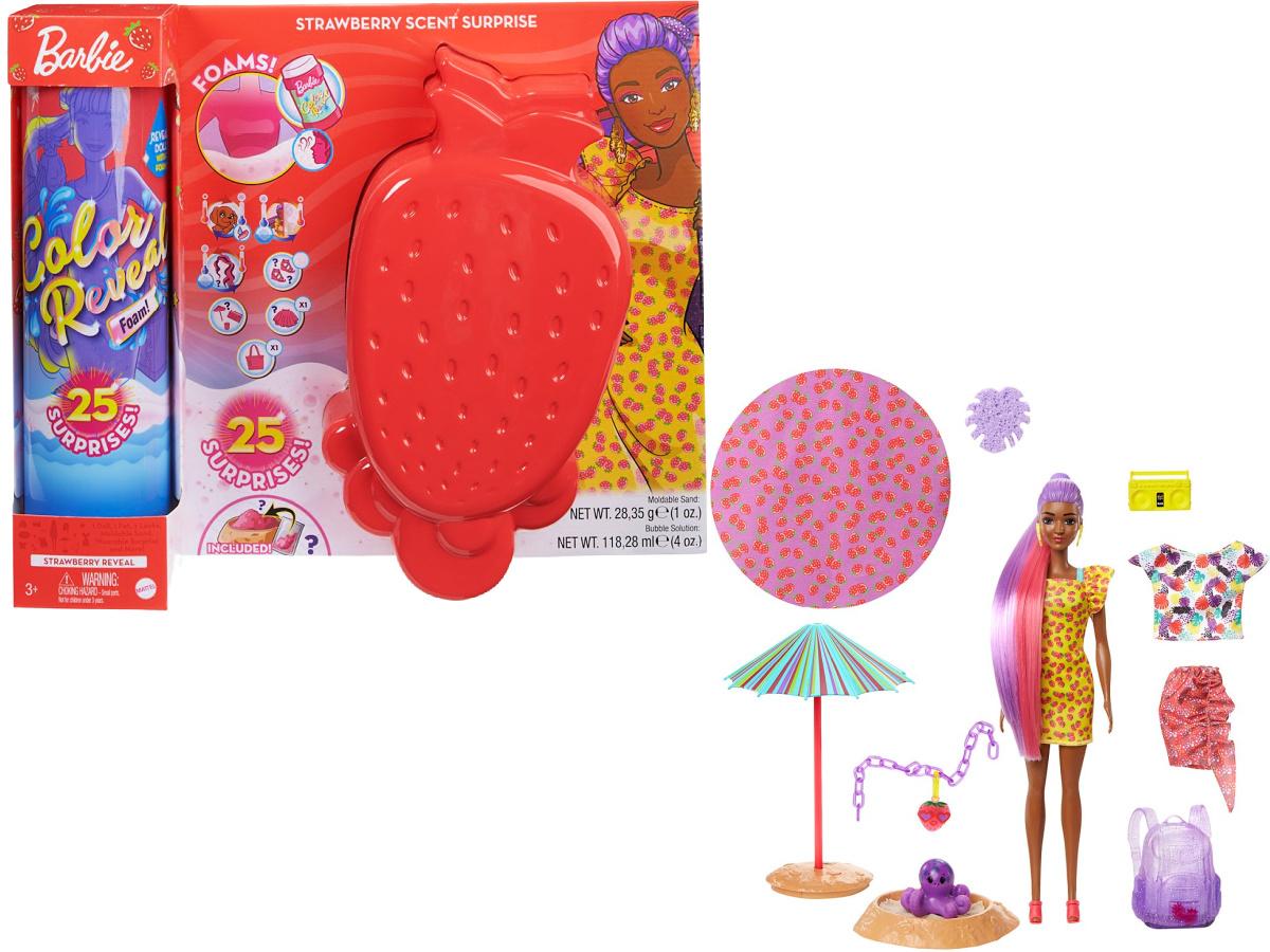 Barbie Strawberry Foam Reveal Toy Set