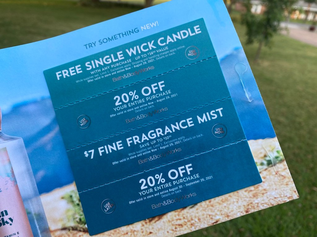 Bath & Body Works August coupons