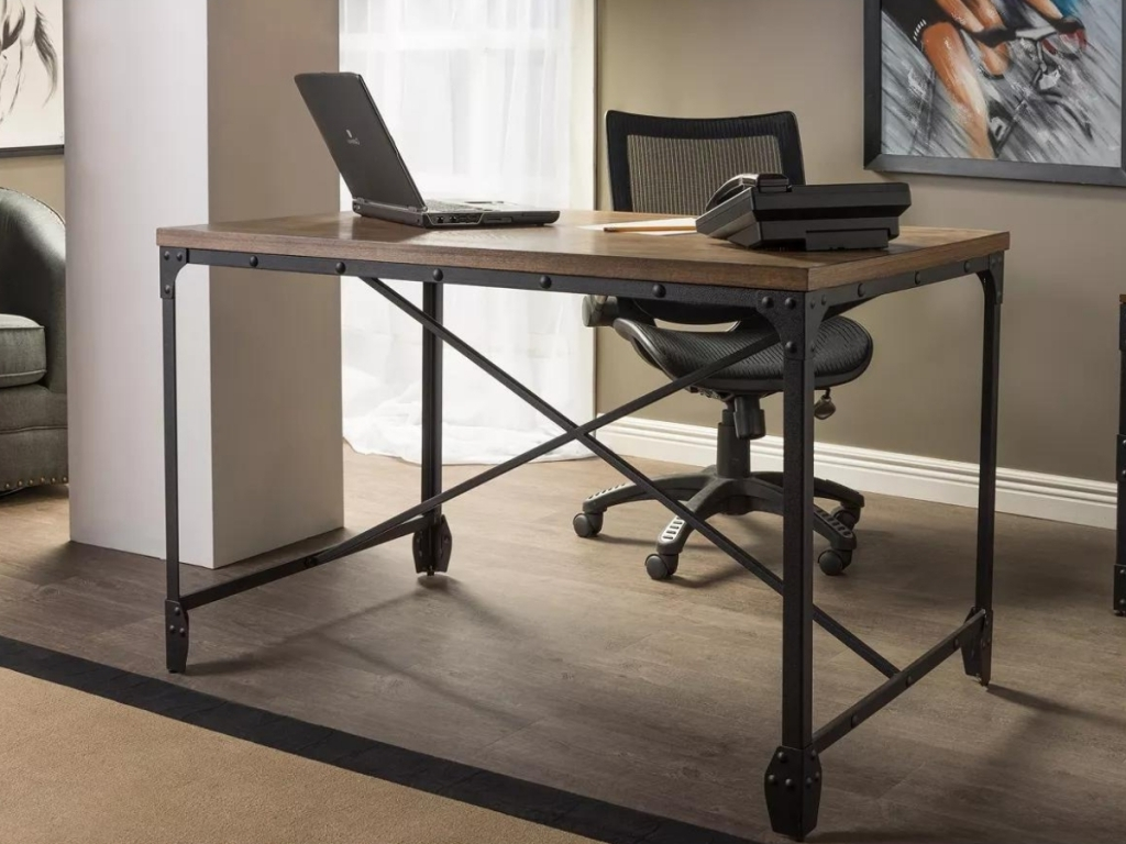 Baxton Studio Industrial Home Office Wood Desk