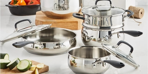 Belgique Stainless Steel 12-Piece Cookware Sets Only $119.99Shipped on Macys.com (Regularly $300)