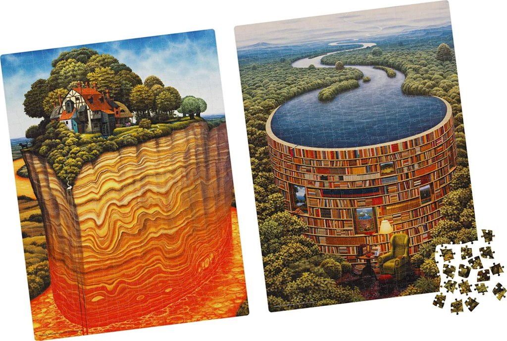 Bibliodame 1 and 2 puzzles