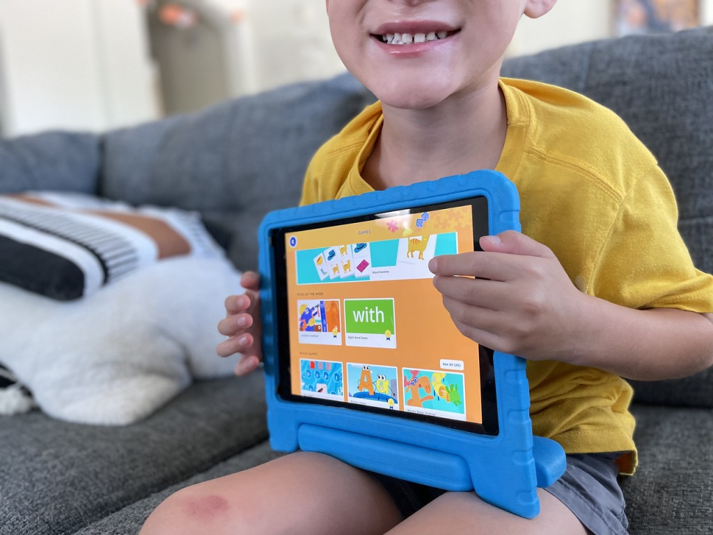 Boy Playing Homer Learning App