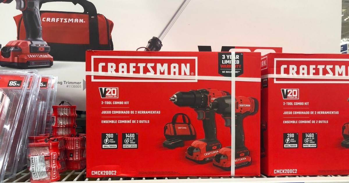 CRAFTSMAN V20 2-Tool 20-Volt Max Power Tool Combo Kit with Soft Case